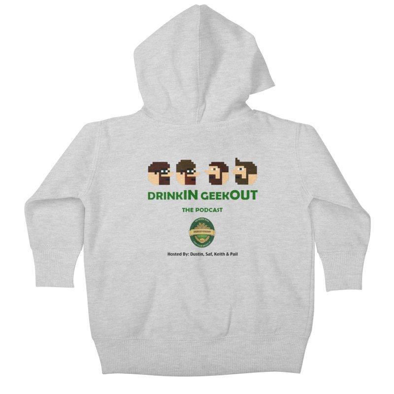 DiGo (no fill) Kids Baby Zip-Up Hoody by DrinkIN GeekOUT's Artist Shop