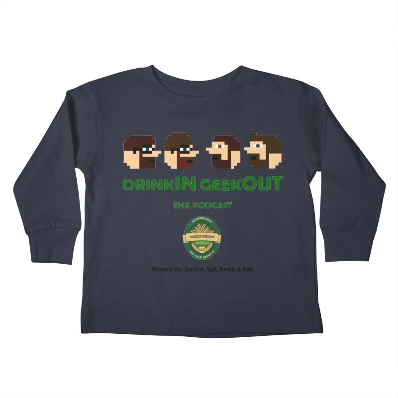 DiGo (no fill) Kids Toddler Longsleeve T-Shirt by DrinkIN GeekOUT's Artist Shop