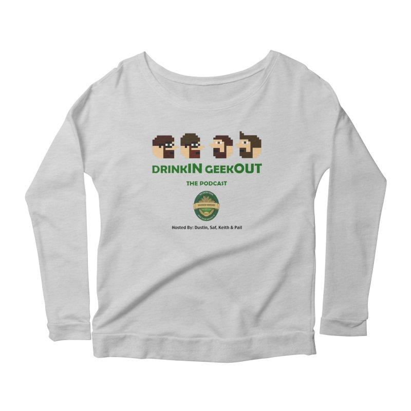 DiGo (no fill) Women's Scoop Neck Longsleeve T-Shirt by DrinkIN GeekOUT's Artist Shop