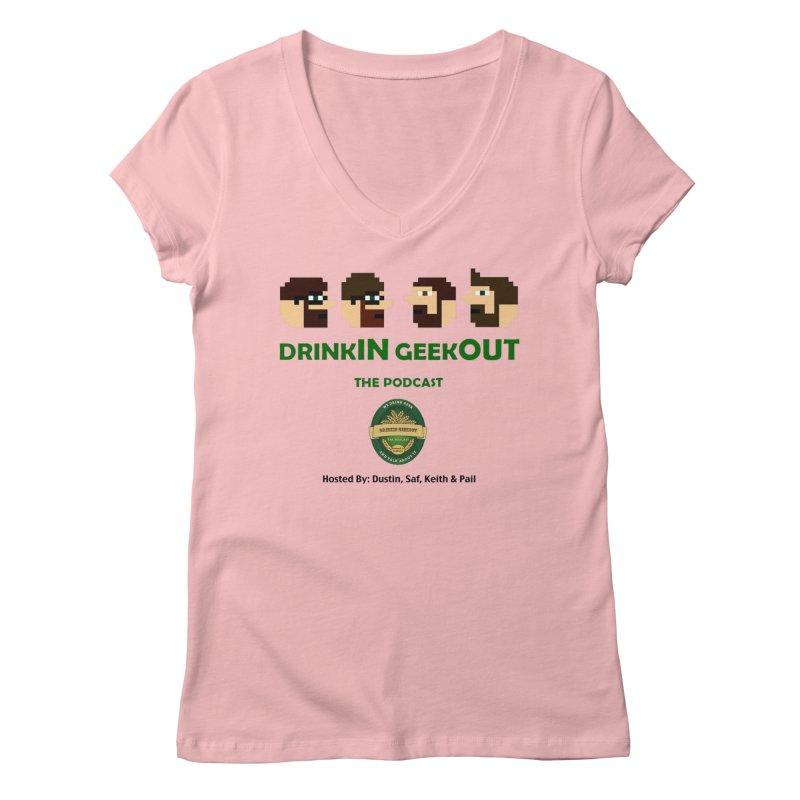 DiGo (no fill) Women's Regular V-Neck by DrinkIN GeekOUT's Artist Shop