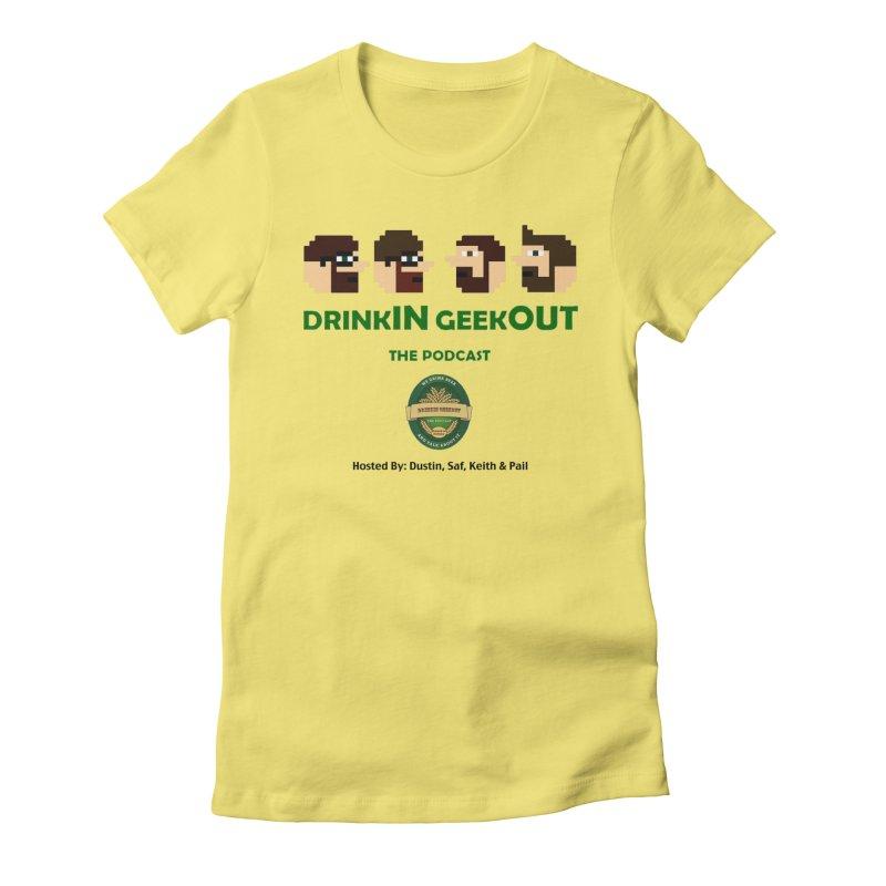 DiGo (no fill) Women's Fitted T-Shirt by DrinkIN GeekOUT's Artist Shop