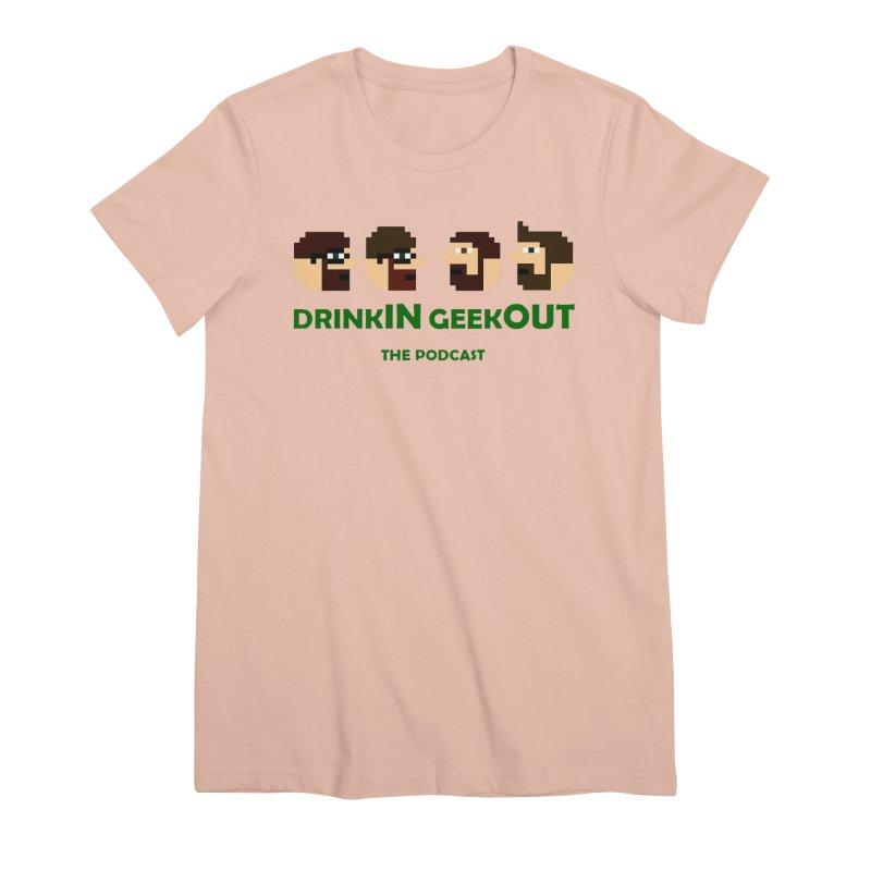 DiGo (heads only) Women's Premium T-Shirt by DrinkIN GeekOUT's Artist Shop