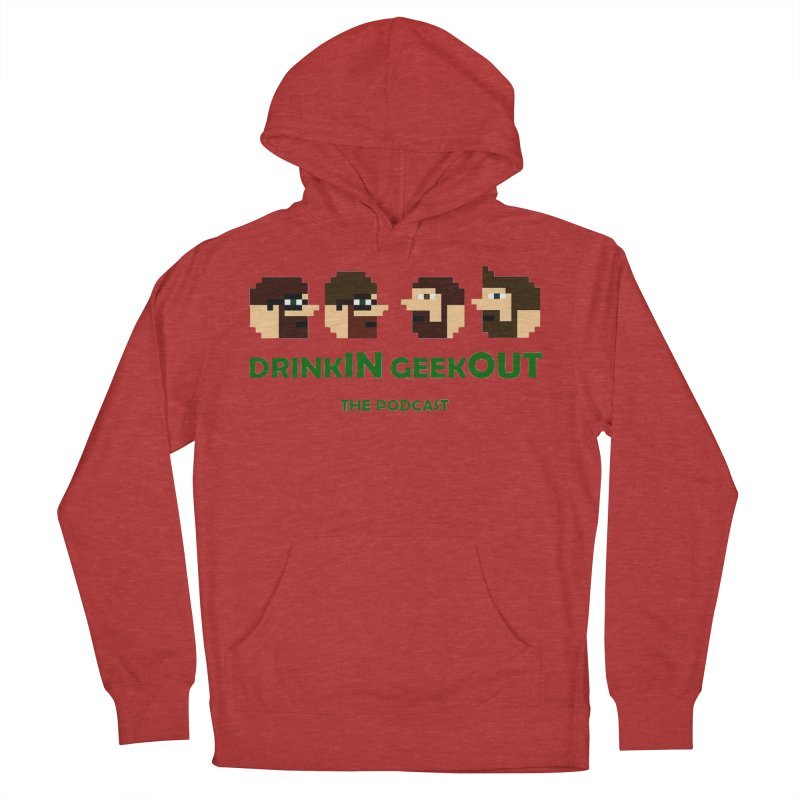 DiGo (heads only) Women's French Terry Pullover Hoody by DrinkIN GeekOUT's Artist Shop