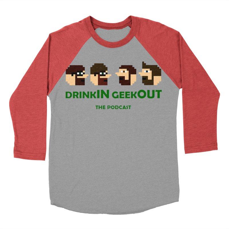 DiGo (heads only) Women's Baseball Triblend Longsleeve T-Shirt by DrinkIN GeekOUT's Artist Shop