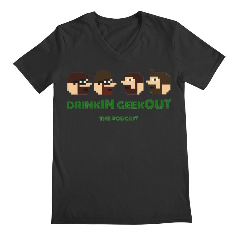 DiGo (heads only) Men's Regular V-Neck by DrinkIN GeekOUT's Artist Shop