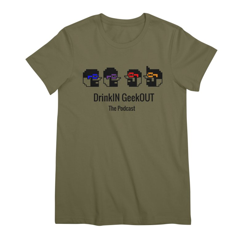 ANDG (Adult Normal Drinking Geeks) Women's Premium T-Shirt by DrinkIN GeekOUT's Artist Shop