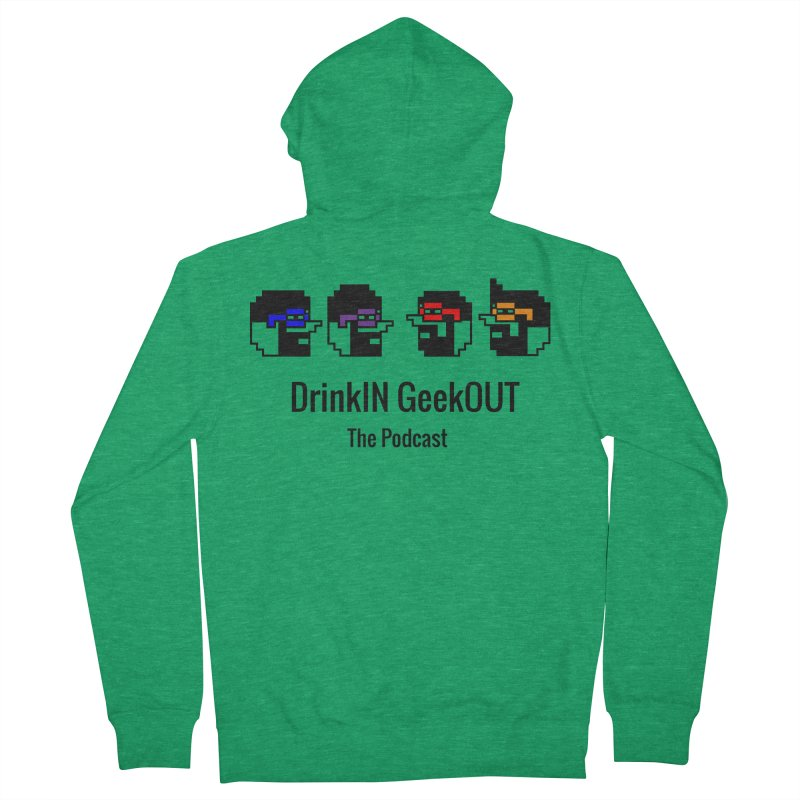 ANDG (Adult Normal Drinking Geeks) Men's French Terry Zip-Up Hoody by DrinkIN GeekOUT's Artist Shop