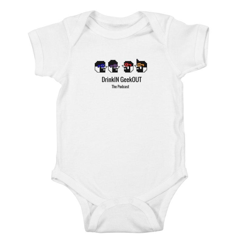 ANDG (Adult Normal Drinking Geeks) Kids Baby Bodysuit by DrinkIN GeekOUT's Artist Shop