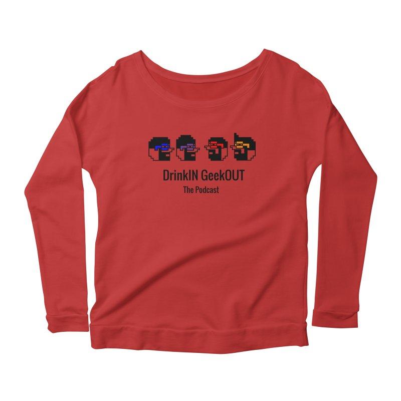 ANDG (Adult Normal Drinking Geeks) Women's Scoop Neck Longsleeve T-Shirt by DrinkIN GeekOUT's Artist Shop