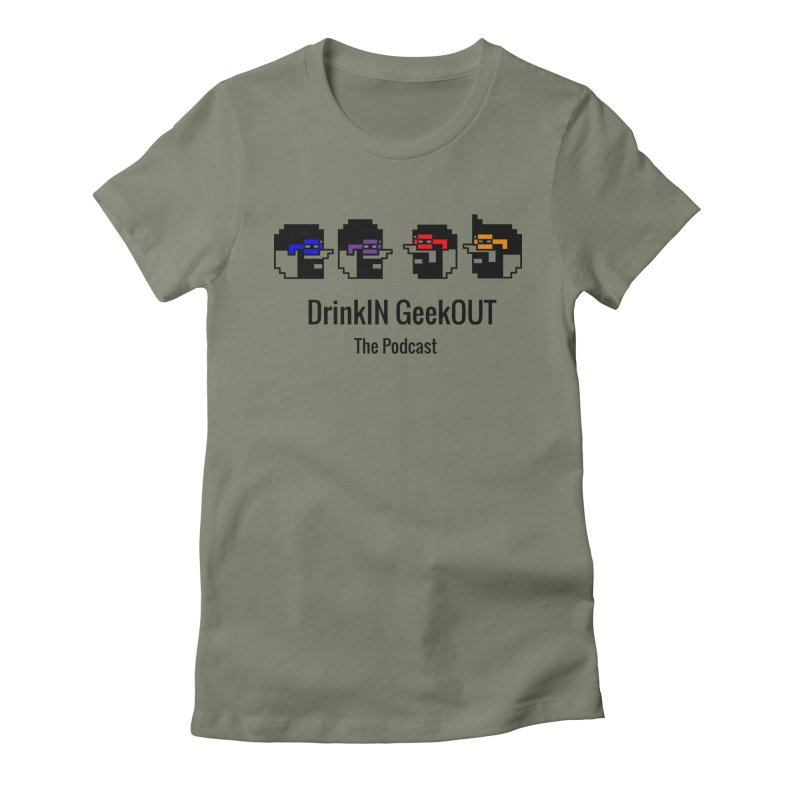 ANDG (Adult Normal Drinking Geeks) Women's Fitted T-Shirt by DrinkIN GeekOUT's Artist Shop