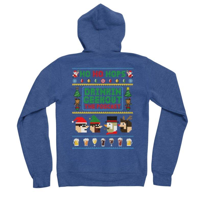 Ugly DiGo Sweater Men's Sponge Fleece Zip-Up Hoody by DrinkIN GeekOUT's Artist Shop