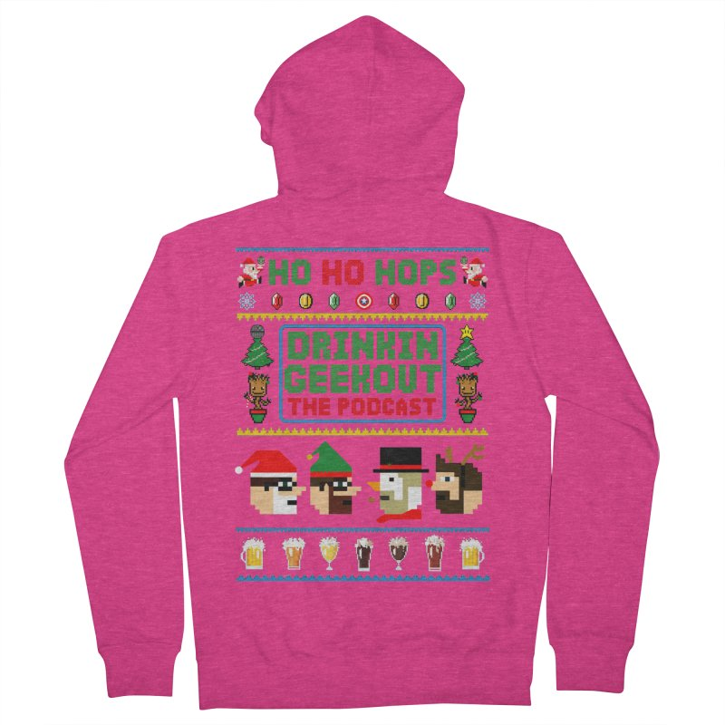 Ugly DiGo Sweater Women's French Terry Zip-Up Hoody by DrinkIN GeekOUT's Artist Shop