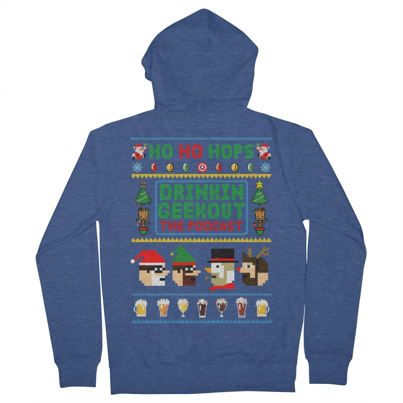 Ugly DiGo Sweater Men's French Terry Zip-Up Hoody by DrinkIN GeekOUT's Artist Shop