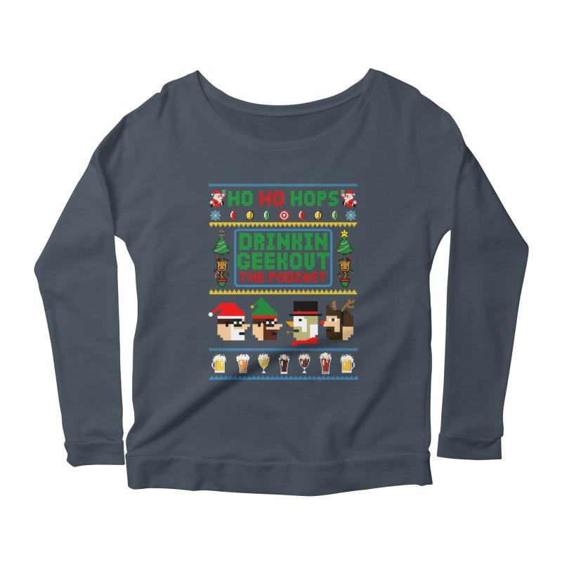 Ugly DiGo Sweater Women's Scoop Neck Longsleeve T-Shirt by DrinkIN GeekOUT's Artist Shop