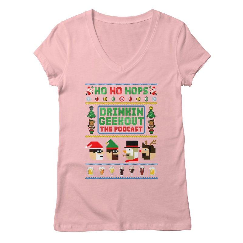 Ugly DiGo Sweater Women's Regular V-Neck by DrinkIN GeekOUT's Artist Shop