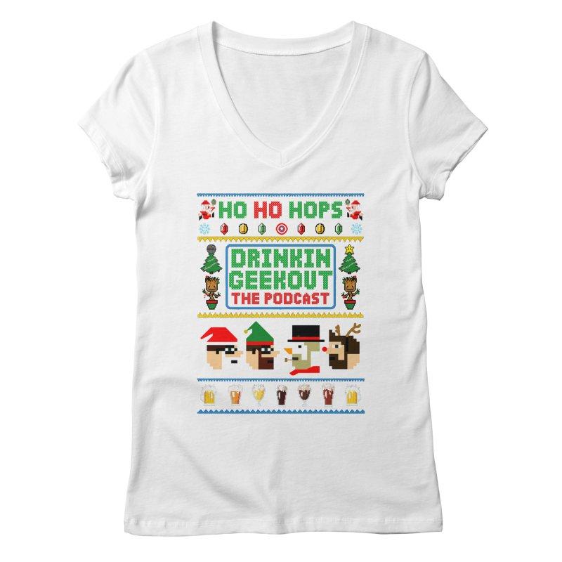 Ugly DiGo Sweater Women's Regular V-Neck by DrinkIN GeekOUT's Artist Shop