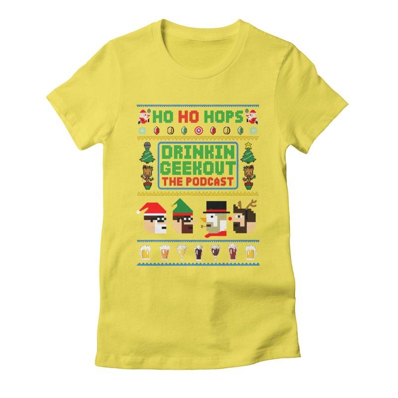 Ugly DiGo Sweater Women's Fitted T-Shirt by DrinkIN GeekOUT's Artist Shop