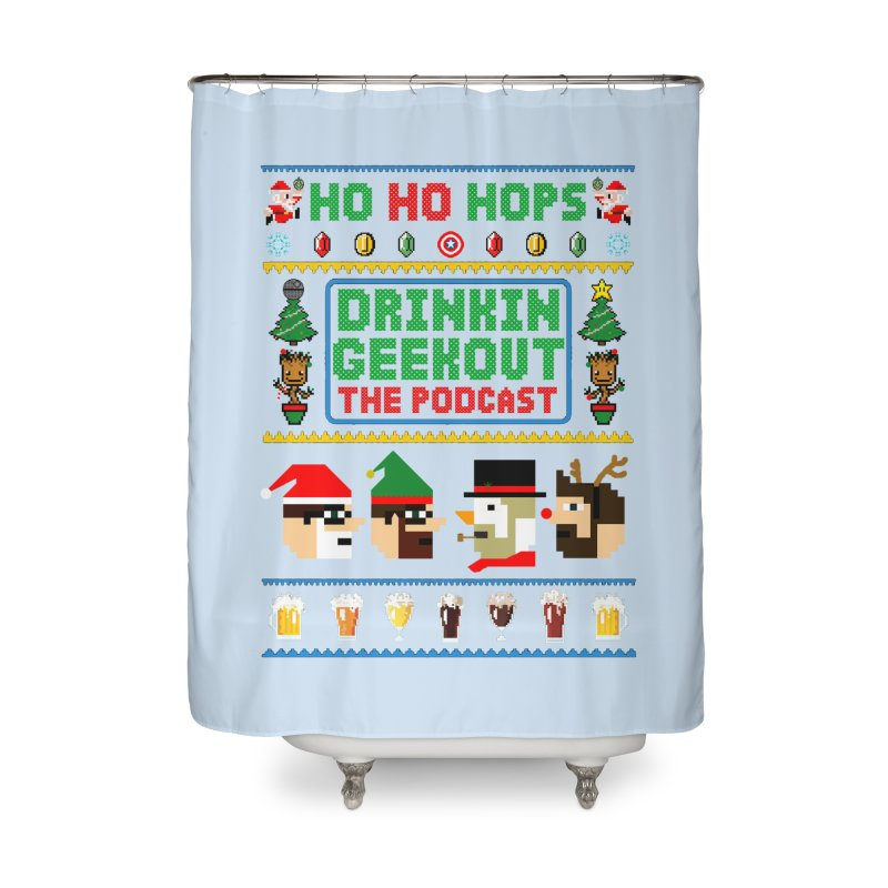 Ugly DiGo Sweater Home Shower Curtain by DrinkIN GeekOUT's Artist Shop