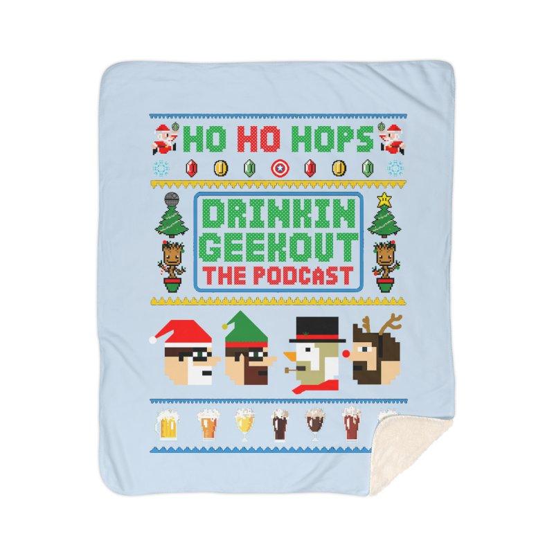 Ugly DiGo Sweater Home Sherpa Blanket Blanket by DrinkIN GeekOUT's Artist Shop