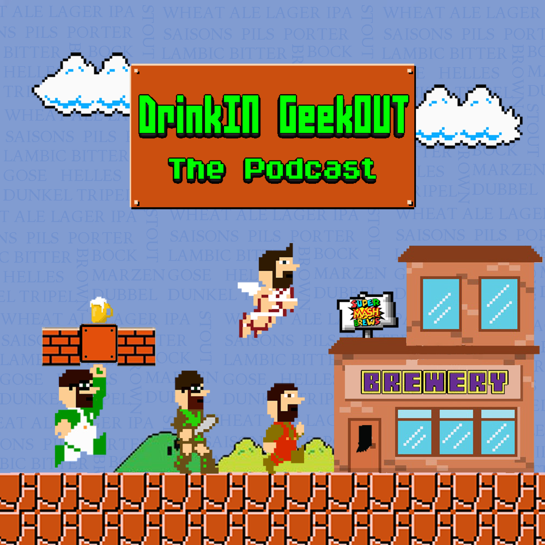 DrinkIN GeekOUT's Artist Shop Logo