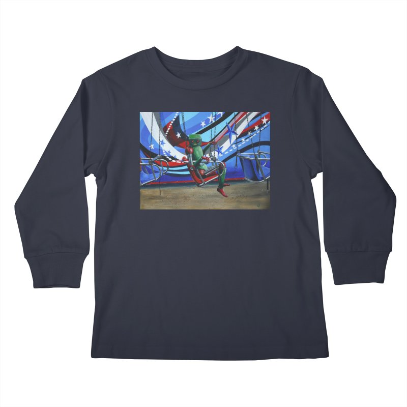 Lonely Robot 10 Kids Longsleeve T-Shirt by Dswensondesign 's Artist Shop