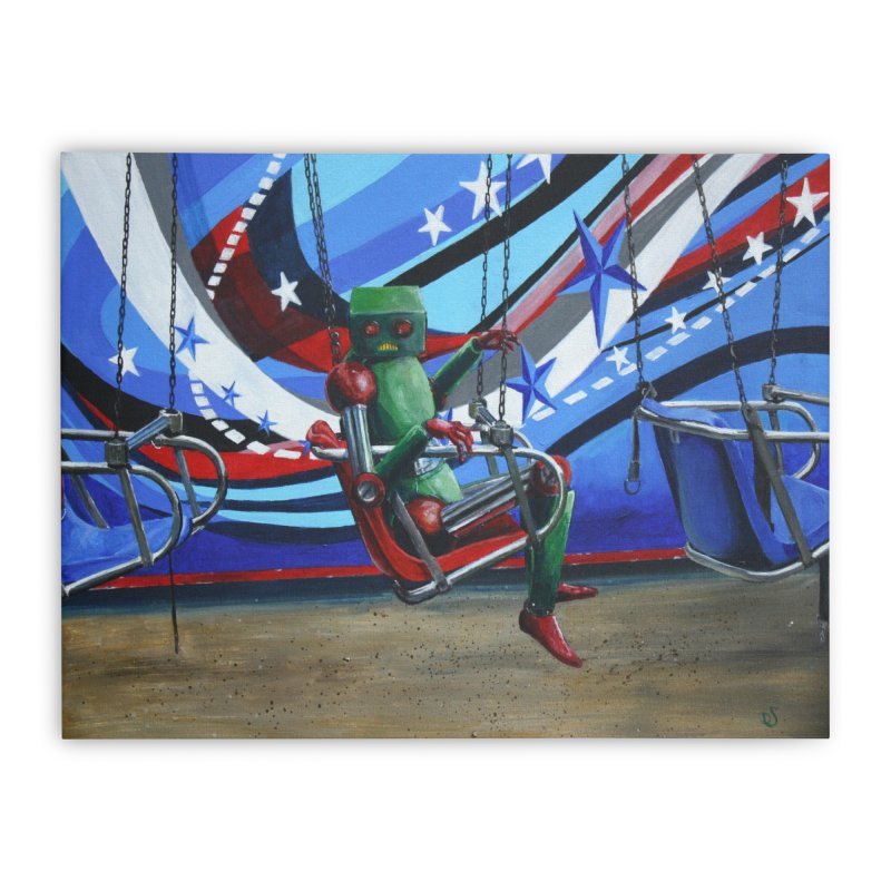 Lonely Robot 10 Home Stretched Canvas by Dswensondesign 's Artist Shop