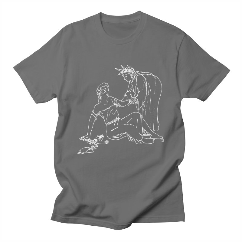Liberty Lifting Justice Men's T-Shirt by Dswensondesign 's Artist Shop