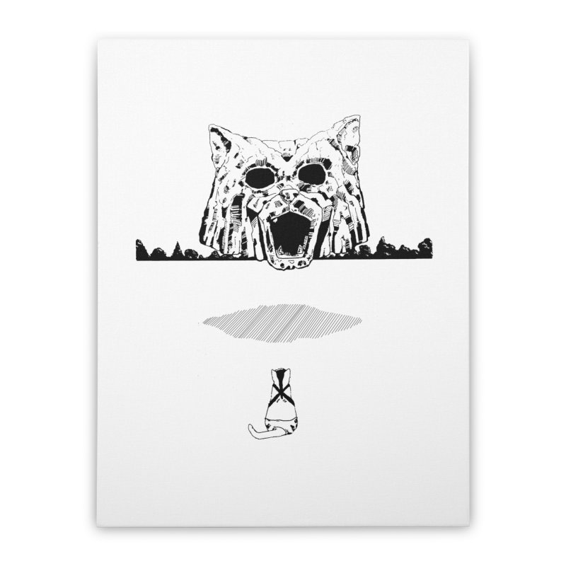 Catdoz Home Stretched Canvas by Dswensondesign 's Artist Shop