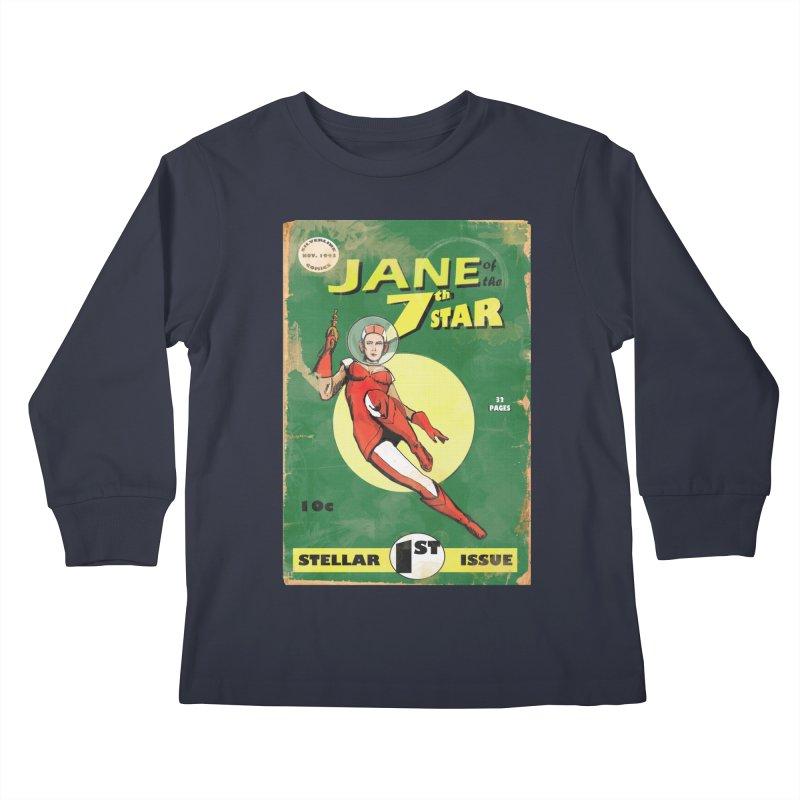 Jane of the 7th Star Kids Longsleeve T-Shirt by Dswensondesign 's Artist Shop