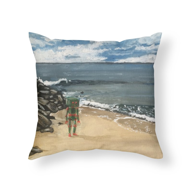 Lonely Robot 1 Home Throw Pillow by Dswensondesign 's Artist Shop