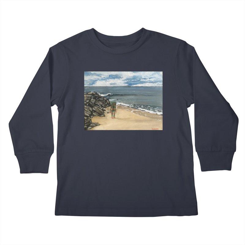 Lonely Robot 1 Kids Longsleeve T-Shirt by Dswensondesign 's Artist Shop