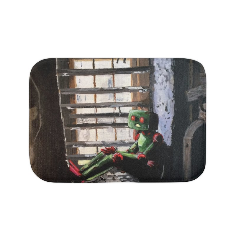 Lonely Robot 2 Home Bath Mat by Dswensondesign 's Artist Shop