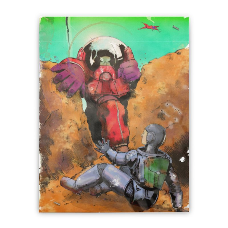 Spaceman Home Stretched Canvas by Dswensondesign 's Artist Shop