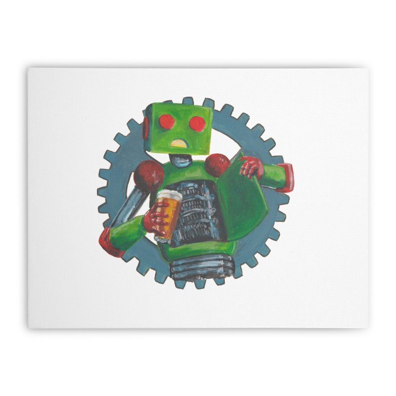 Gear Box Robot Home Stretched Canvas by Dswensondesign 's Artist Shop
