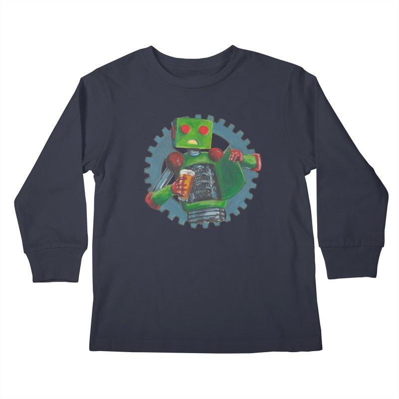 Gear Box Robot Kids Longsleeve T-Shirt by Dswensondesign 's Artist Shop