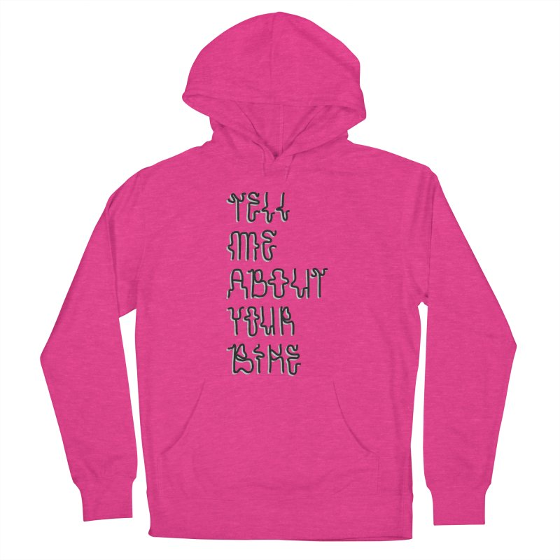 Tell Me About Your Bike Women's French Terry Pullover Hoody by Dustin Klein's Artist Shop