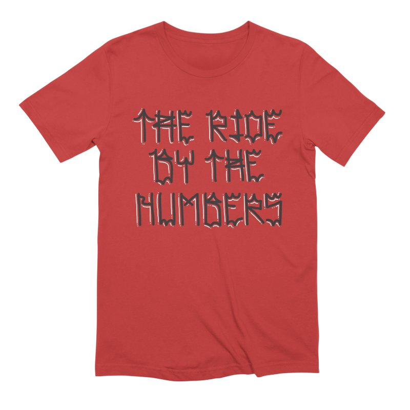 The Ride By The Numbers in Men's Extra Soft T-Shirt Red by Dustin Klein's Artist Shop