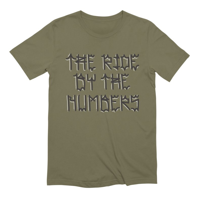 The Ride By The Numbers Men's Extra Soft T-Shirt by Dustin Klein's Artist Shop