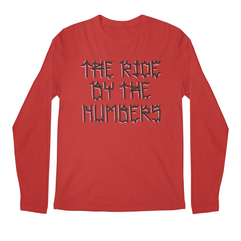 The Ride By The Numbers Men's Regular Longsleeve T-Shirt by Dustin Klein's Artist Shop