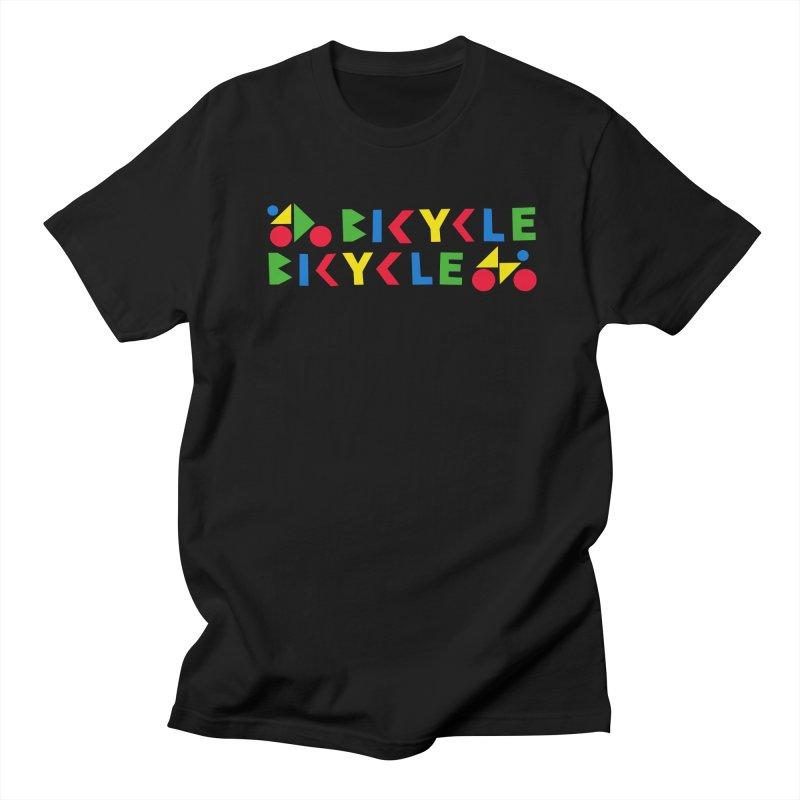 Bicycle Bicyle Men's Regular T-Shirt by Dustin Klein's Artist Shop