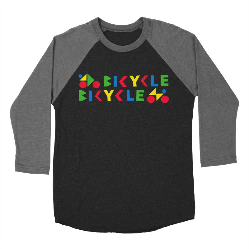 Bicycle Bicyle Women's Baseball Triblend Longsleeve T-Shirt by Dustin Klein's Artist Shop