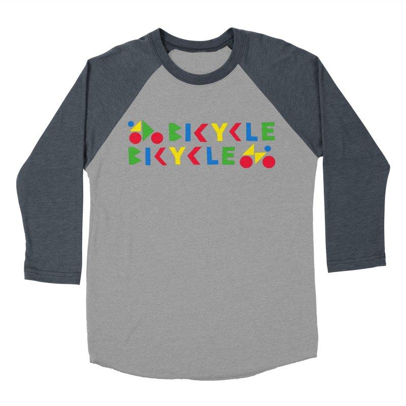 Bicycle Bicyle Women's Baseball Triblend Longsleeve T-Shirt by Dustin Klein's Artist Shop
