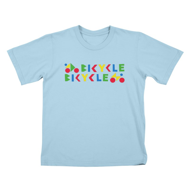 Bicycle Bicyle Kids T-Shirt by Dustin Klein's Artist Shop