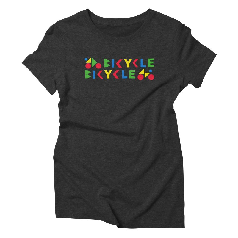 Bicycle Bicyle Women's Triblend T-Shirt by Dustin Klein's Artist Shop