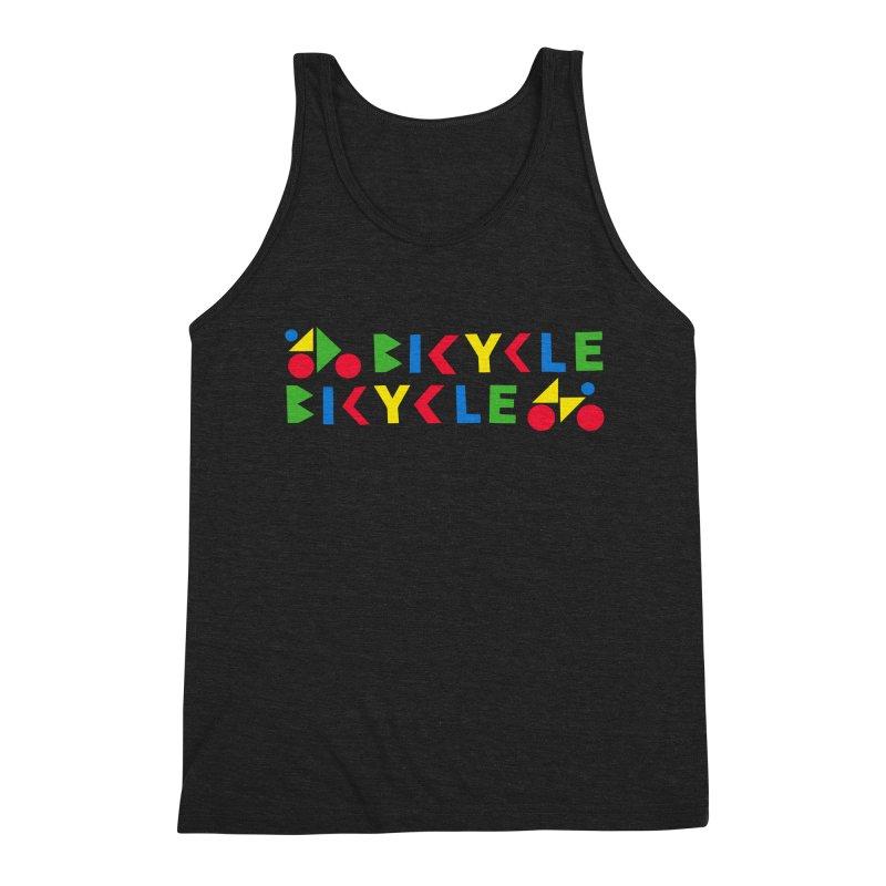 Bicycle Bicyle Men's Triblend Tank by Dustin Klein's Artist Shop