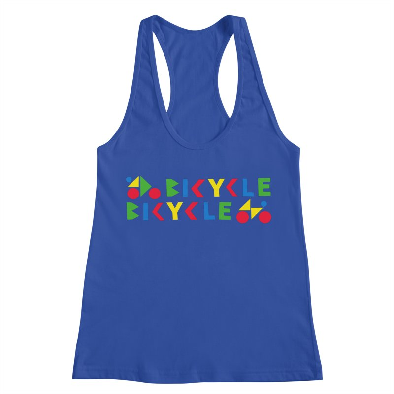 Bicycle Bicyle Women's Racerback Tank by Dustin Klein's Artist Shop