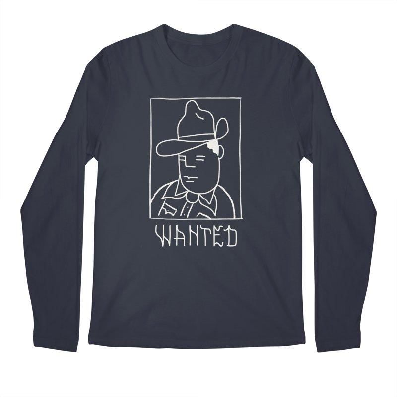 Wanted, Dead or Alive Men's Regular Longsleeve T-Shirt by Dustin Klein's Artist Shop