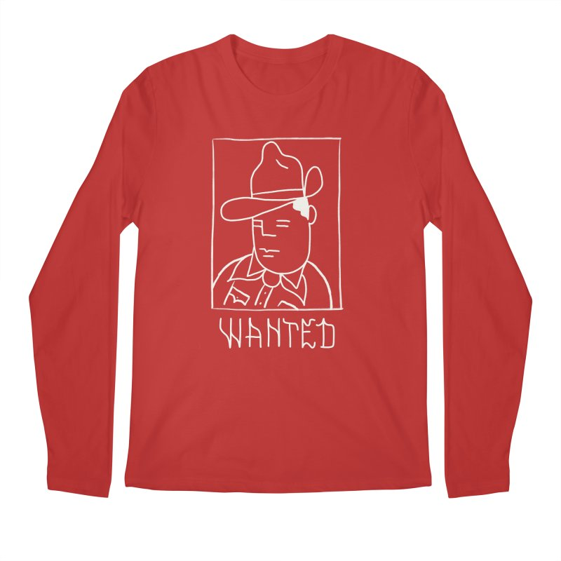 Wanted, Dead or Alive Men's Regular Longsleeve T-Shirt by Dustin Klein's Artist Shop