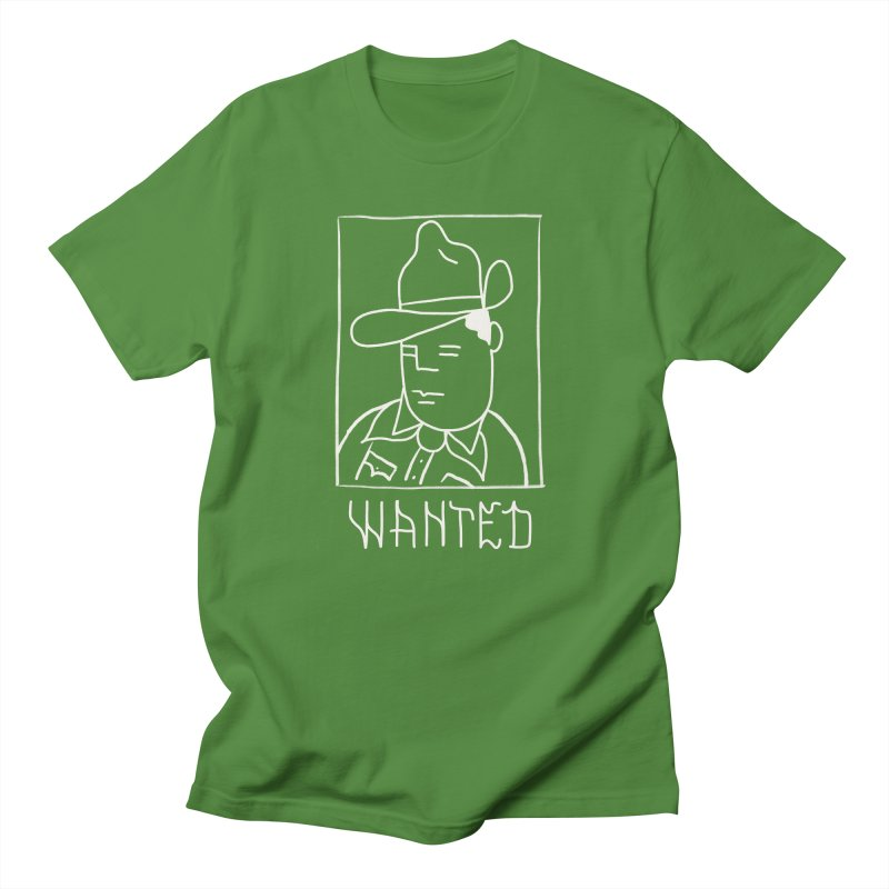Wanted, Dead or Alive Men's Regular T-Shirt by Dustin Klein's Artist Shop