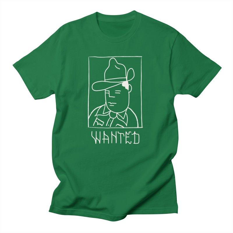 Wanted, Dead or Alive Men's Regular T-Shirt by Dustin Klein's Artist Shop